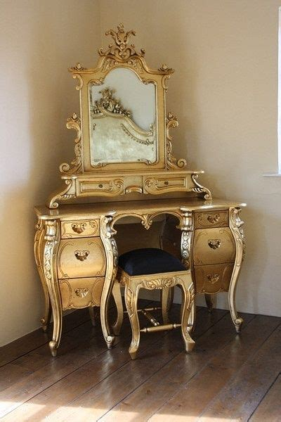 Gold Vanity Table by Fabulous Rococo Dressing Table Gold Leaf