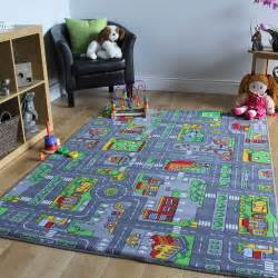 children s rugs town road map city rug play mat