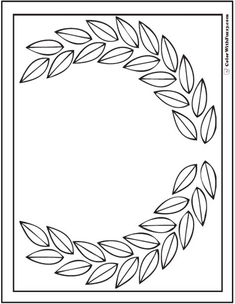printable laurel leaves 70 geometric coloring pages to print and customize