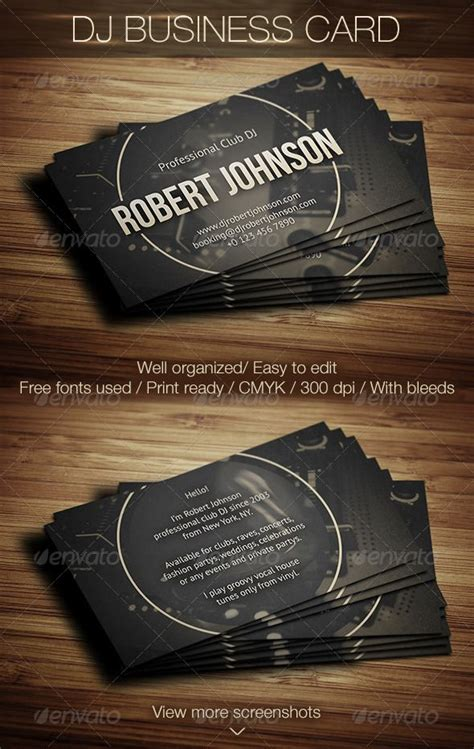 free dj business card psd templates 17 best images about dj business cards on