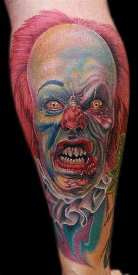 pennywise tattoo pennywise the clown by cecil porter tattoonow