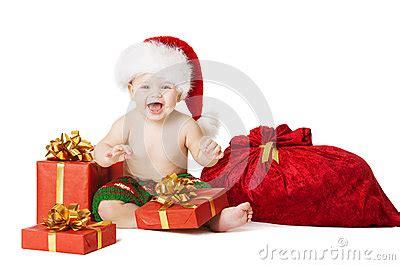 santa hat music box baby child present gift box and santa bag stock photo image 46505456