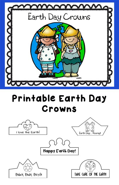 earth day printable crowns early education earth day