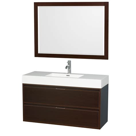 46 Aqila Top White wyndham collection 47 3 in w x 18 in d vanity in espresso with acrylic vanity top in