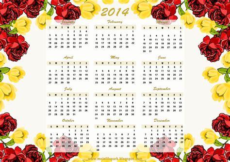 printable calendar with flowers free printable flower framed 2014 calendar ausdruckbarer
