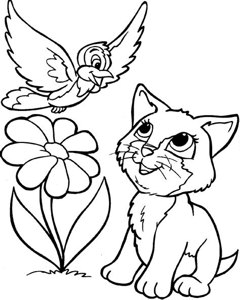 cat with kittens coloring page cat coloring pages free large images