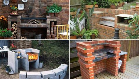 backyard built in bbq ideas cool diy backyard brick barbecue ideas amazing diy
