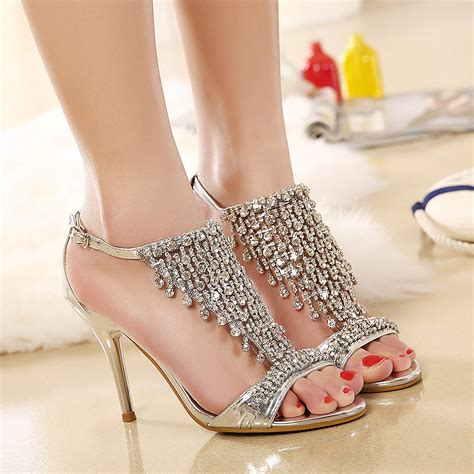 high heels with diamonds 2015 new and summer princess