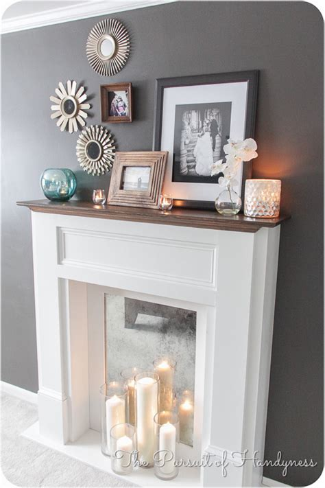 white diy faux mantle fireplace diy projects