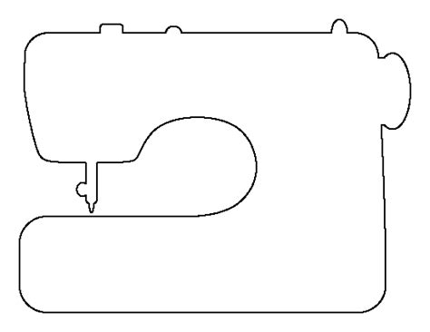 template for sewing sewing machine pattern use the printable outline for