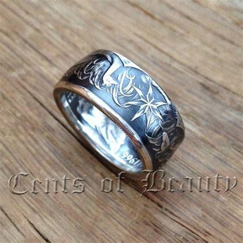 Handmade Silver Rings Australia - coin rings handmade from 1966 australian 50 cents 80