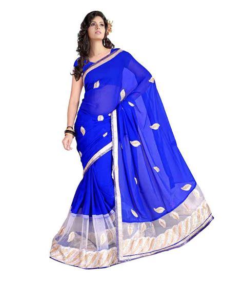 shree maruti shree maruti blue cotton saree buy shree maruti blue