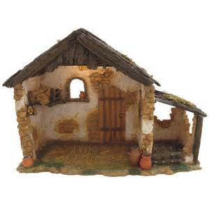 fontanini lighted stable stables nativity scenes