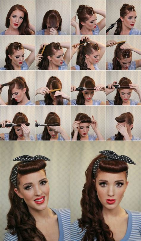 1950s step by step hairstyle step by step guide retro hairstyle gorgeous hair