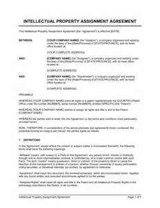 property transfer agreement template intellectual property assignment template sle form