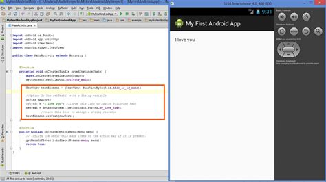 layout definition in java lesson how to modify android textview in java