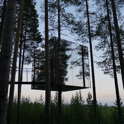 suspended swedish tree hotel reflects natural environment 5 epic places in sweden even the swedes don t know about