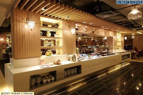 Buffet Design | restaurant buffet counter with 2 pillar on right and