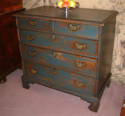 george  period painted oak chest  drawers antiques atlas