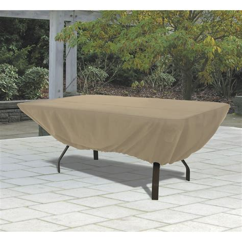 outdoor patio table cover accessories terrazzo rectangular oval patio table