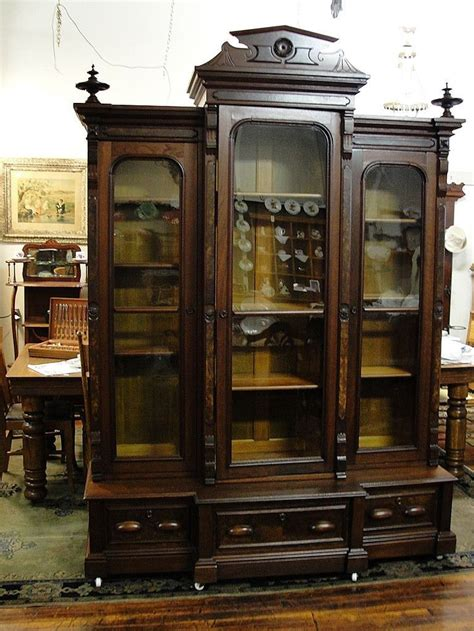 large walnut bookcase antique furniture