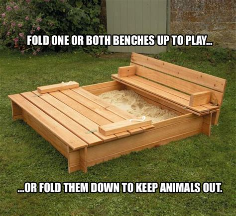 sandbox with bench lid sandbox with built in benches manteresting