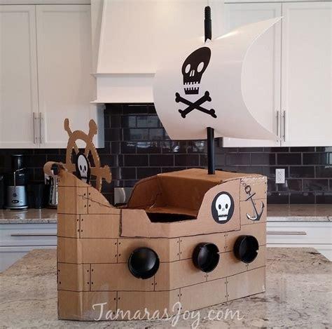 cardboard boat costume boys kids costume diy cardboard pirate ship pinterest