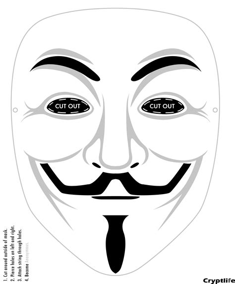 V For Vendetta Coloring Pages by Mask Printable Anonymous Mask Printable Guyfawkesmask
