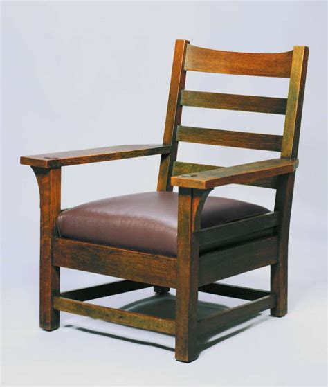 Stickley Armchair by Early Gustav Stickley Green Armchair C1901 02 California