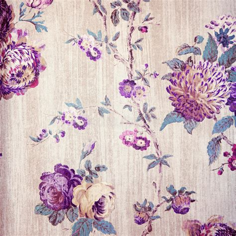 Wallpaper Shabby Vintage vintage shabby chic beige wallpaper with violet floral