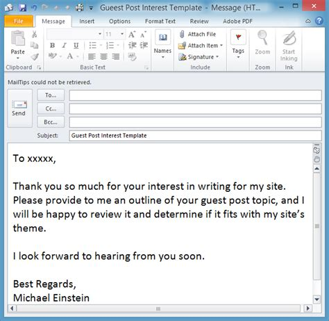 Outlook Save Email As Template save time with an outlook email template email