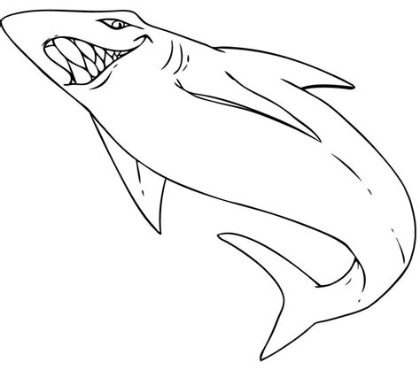 cartoon shark coloring page free printable shark coloring pages for kids