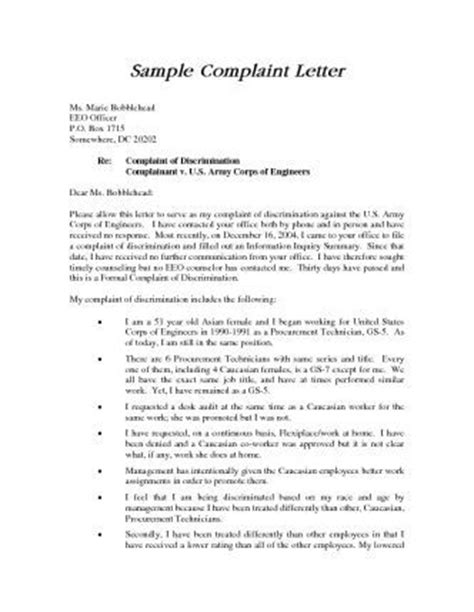Complaint Letter Hr Manager A Complaint Letter To Hr Is An Important Step In Documenting A Serious Workplace Issue Sle