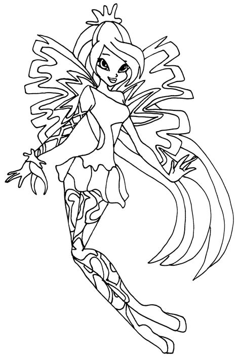 Sirenix Bloom By Elfkena On Deviantart Winx Club Coloring Pages Bloom
