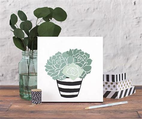 stenciled succulents   flower pot project  decoart
