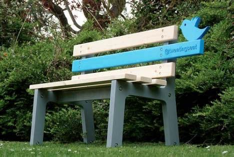 tree hugger bench public bench tweets to make open spaces more social video