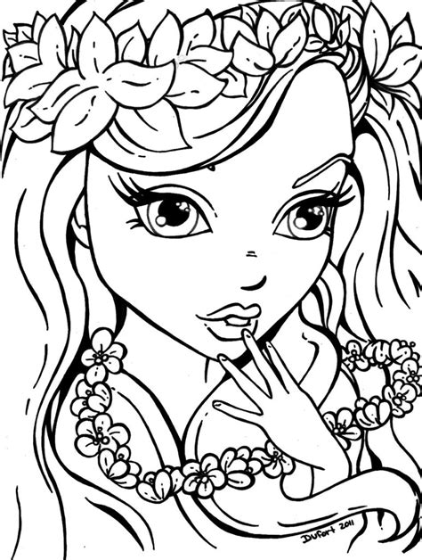 Coloring Pages Hard Coloring Pages For Girls Free Color Pages For To Print