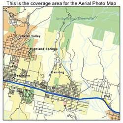 banning california map aerial photography map of banning ca california