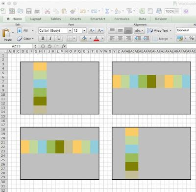 shiner's view: how to design a quilt in excel