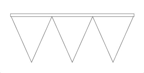 Pennant Banner Template Peerpex Free Printable Triangle Banner Template
