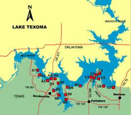 texoma map aerial photo lake texoma