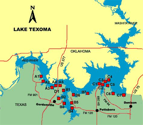 lake map of texas lake texoma access