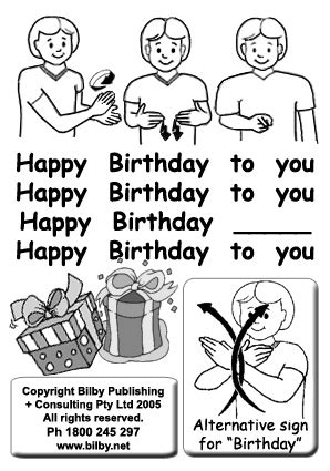 Happy Birthday Sign Language by Signplanet Net Auslan Pre School Curriculum Material
