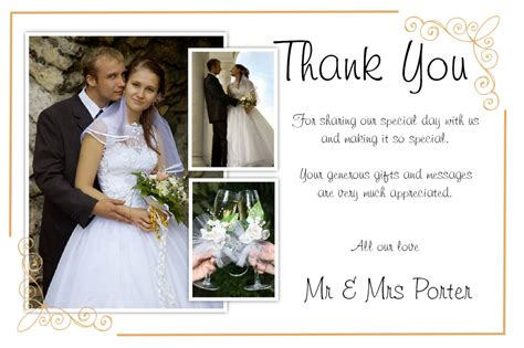 Thank You Card Templates For Wedding Photographers by Wedding Thank You Card Wording 5 Card Design Ideas
