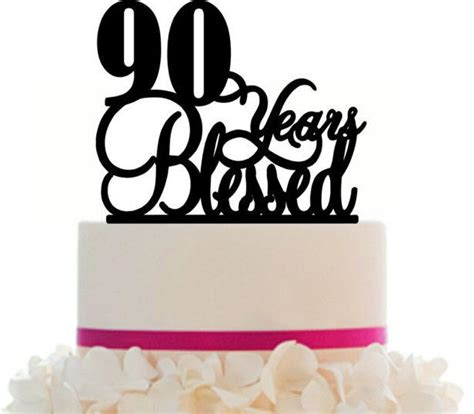 90th birthday anniversary cake topper personalized 90