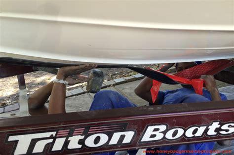 bass boat keel protector honey badger marine products marine products boat bunks