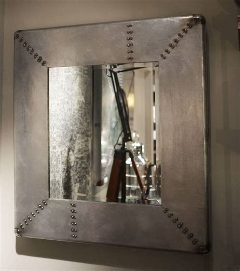 industrial mirror industrial style metal riveted mirror by cambrewood