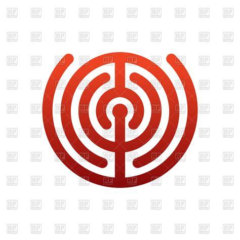 free clipart vector labyrinth logo royalty free vector clip image 145003