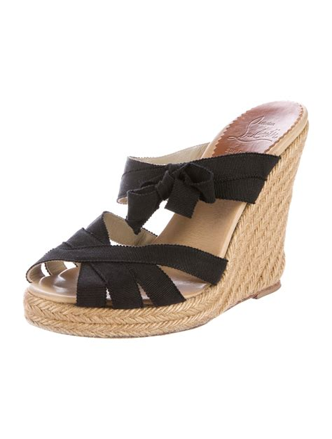 espadrille sandals christian louboutin espadrille wedge sandals shoes