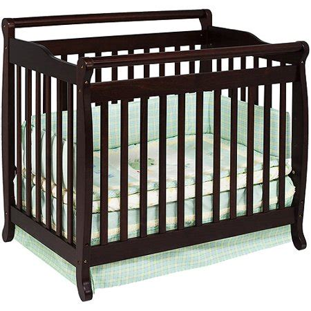 baby mod 2 in 1 convertible mini crib espresso